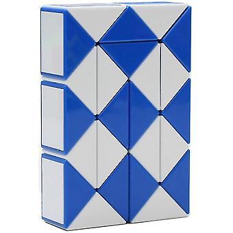 24 Blocs Variété Magic Ruler Plastique Magic Snake Cube Couleur aléatoire