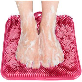 dusj fot scrubber renere massasjeenhet eksfolierende føtter massasjeenhet med sugekopp