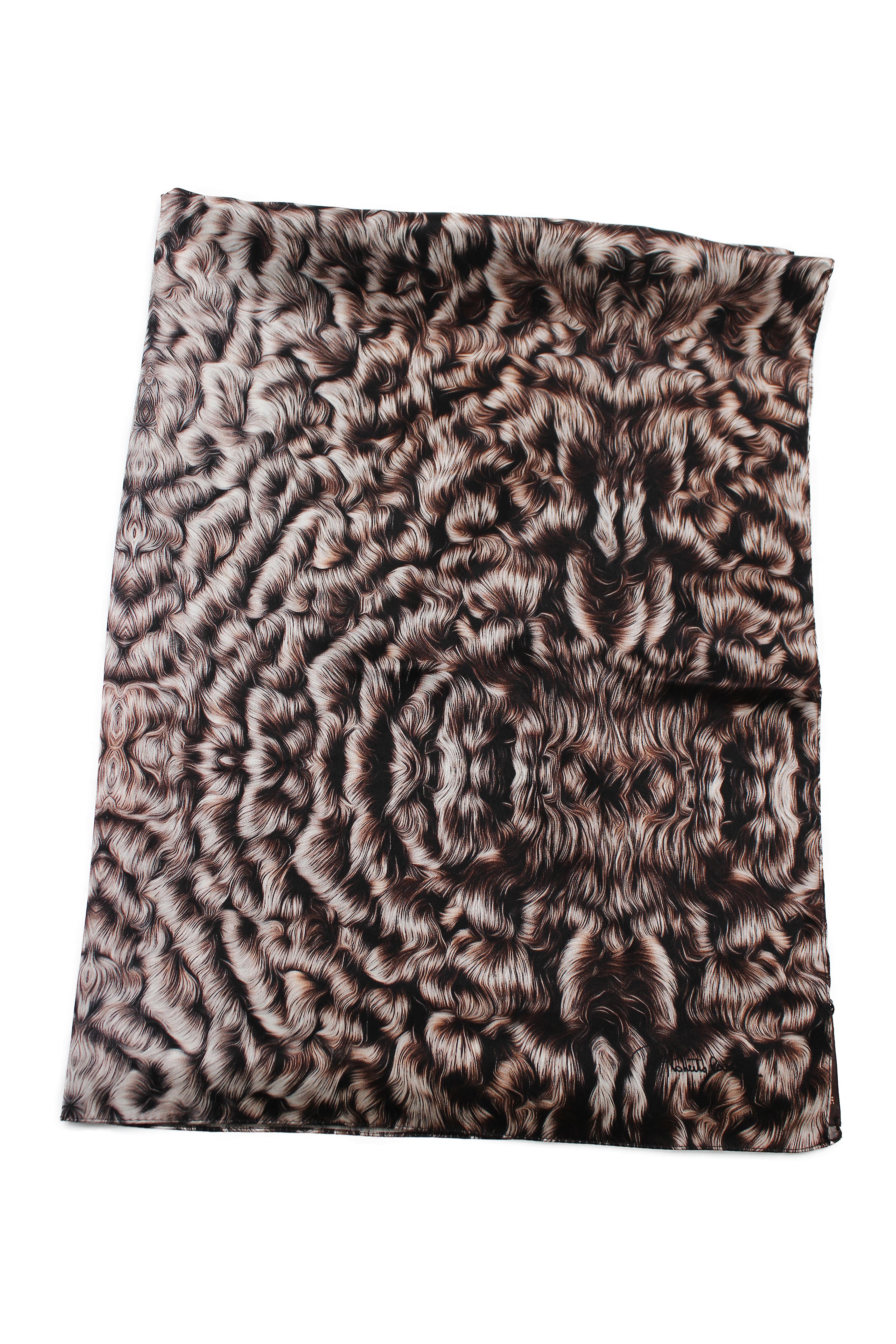 Roberto Cavalli Silk Scarf Patterned Scarf,  White Black  Print Details