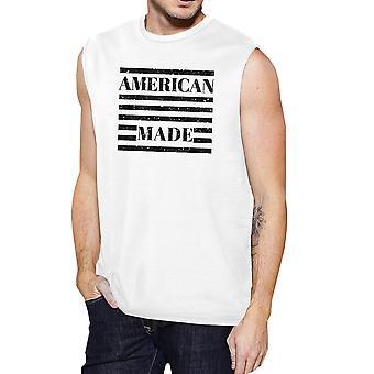 American Made Mens bomull Muscle Tee 4 juli Design grafisk topp