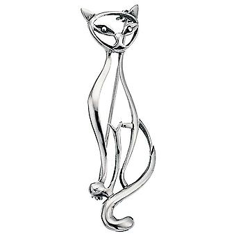 925 sølv broche sølv katte