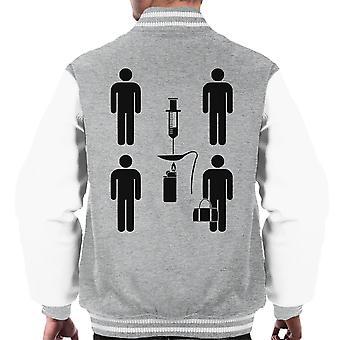 Trainspotting T2 Symbol Plot Sum Up Black Men's Varsity Jacket