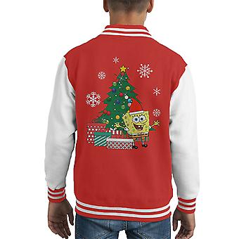 SpongeBob Square Pants Weihnachtsbaum Kid Varsity Jacket