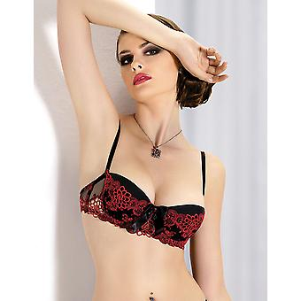 Gracya Mon Amour Black and Red Balcony Bra B186