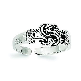 925 plata de ley sólido acabado amor nudo del dedo del pie joyería regalos para las mujeres - 1.2 gramos