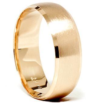 الذهب رجالي ك 14 8 مم مشطوب نحي الفرقة خاتم الزواج الجديد