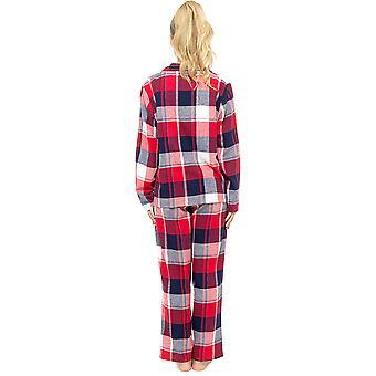 Ladies Foxbury Yarn Dyed Plaid Check Long Cotton Rich Pyjama pajama Sleepwear