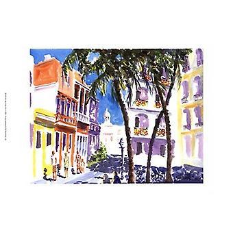 سان خوان بورتوريكو طباعة ملصق من ي بريسلي (19 × 13)