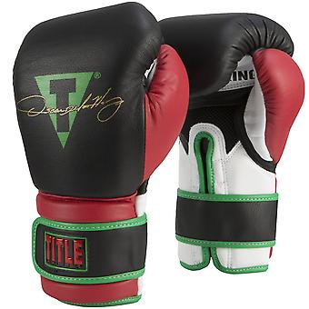 Title Boxing Oscar De La Hoya Signature Bag Boxing Gloves - Black/Red/Green