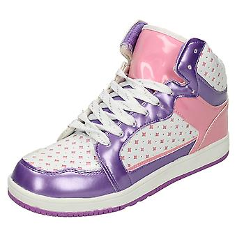Girls Airtech Hi Top Trainers Rebel