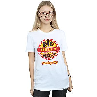 DC Comics Women's Arrow Big Belly Burger Logo Boyfriend Fit T-Shirt