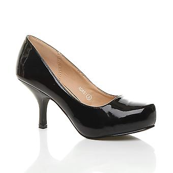 Ajvani womens basso metà tacco scarpe piattaforma lavoro formale a scomparsa