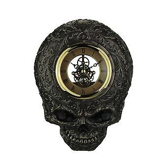 頭蓋骨の透明な顔の壁時計を装飾フラット笑顔