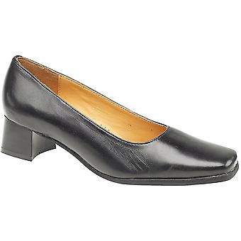 Amblers damer Walford Slip på Lær Office formelle Shoe svart