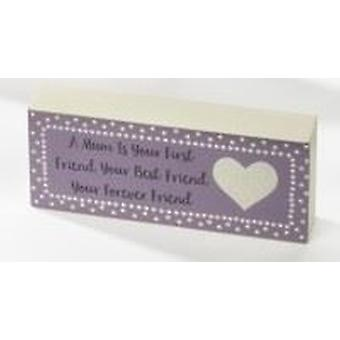 Mum Mini Standing Plaque - Forever Friend by Langs