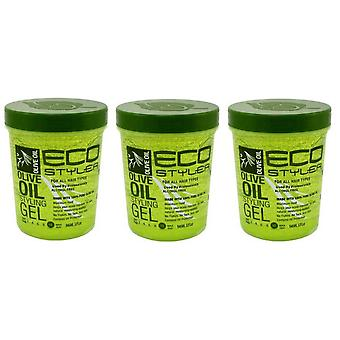Eco Styler Styling Gel 946 ml Olive Oil (Pack of 3)