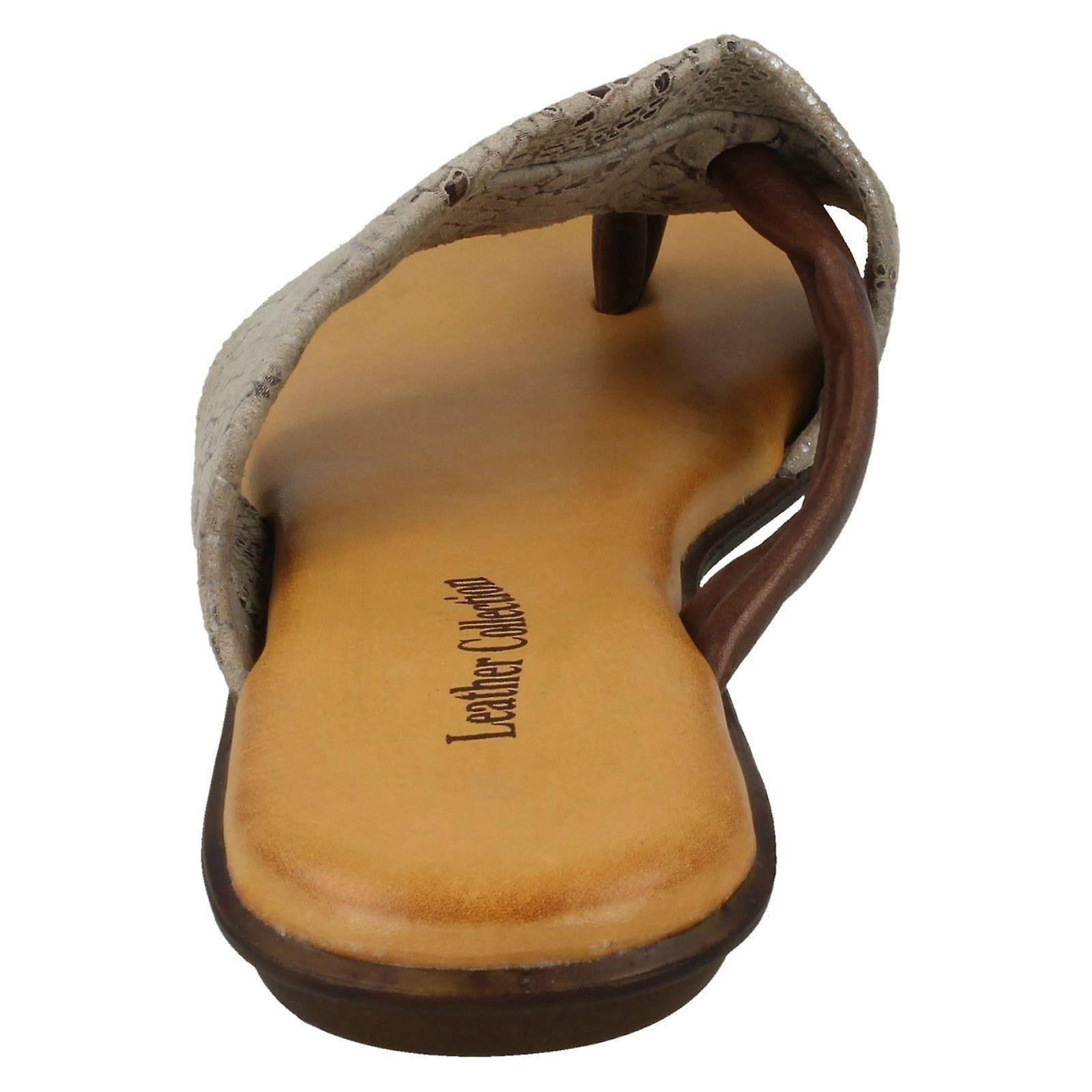 Ladies Leather Collection Toepost Sandals