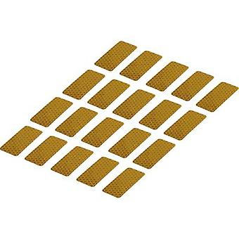 Conrad Components RTS25/50-YL 1282800 Bandes adhésives RTS Jaune (L x W) 50 mm x 25 mm 20 pc(s)