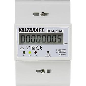 VOLTCRAFT DPM-314D Electricity meter (3-phase) Digital 100 A MID-approved: No 1 pc(s)
