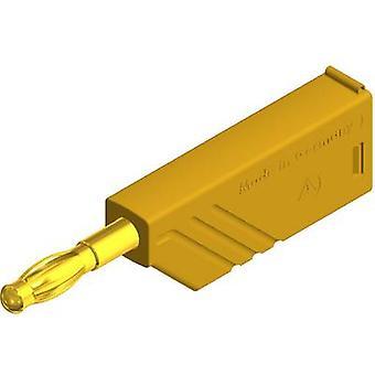 SKS Hirschmann LAS N WS Au Straight blade plug Plug, straight Pin diameter: 4 mm Yellow 1 pc(s)