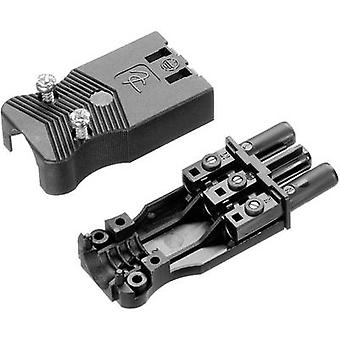 Adels-Contact AC 166 GBUF/ 325 Mains connector AC Series (mains connectors) AC Socket, straight Total number of pins: 2 + PE 16 A Black 1 pc(s)