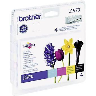 Fratello d'inchiostro LC-970 originale impostare LC970VALBP nero, ciano, Magenta, giallo