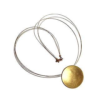 GEMSHINE Damenhalskette in 925 Silber vergoldet, designer Anhänger