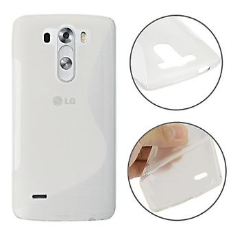 Protective case TPU case cover for mobile LG G3 mini transparent