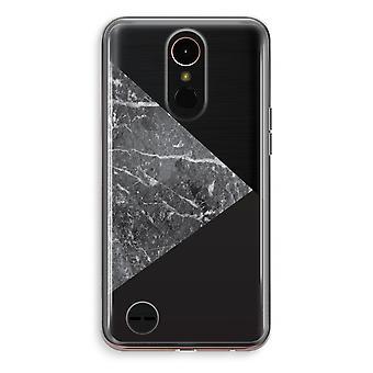 LG K10 (2018) Transparent fodral (Soft) - marmor kombination