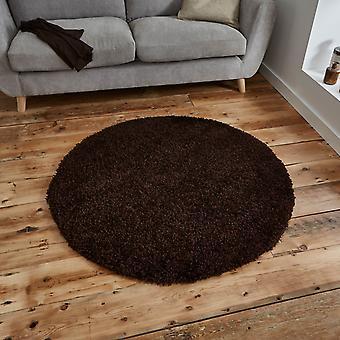 Vista circulaire Shaggy tapijten 2236 Brown