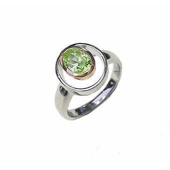 Cavendish francia ezüst és Peridot Greent CZ Rennie Mackintosh Style Ring