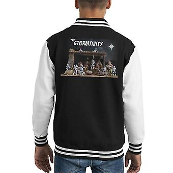 Original Stormtrooper Weihnachten Stormtivity Star Kid es Varsity Jacket