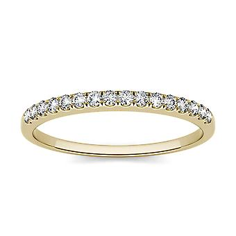 14K Yellow Gold Forever One 1.3mm Round Moissanite Wedding Band
