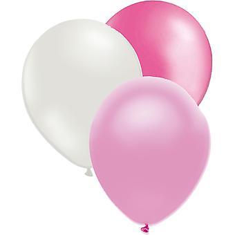 Balloons mix pink/white/light pink 27-pack