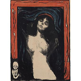 Madonna, Edvard Munch, 60.7 x 44.5 cm