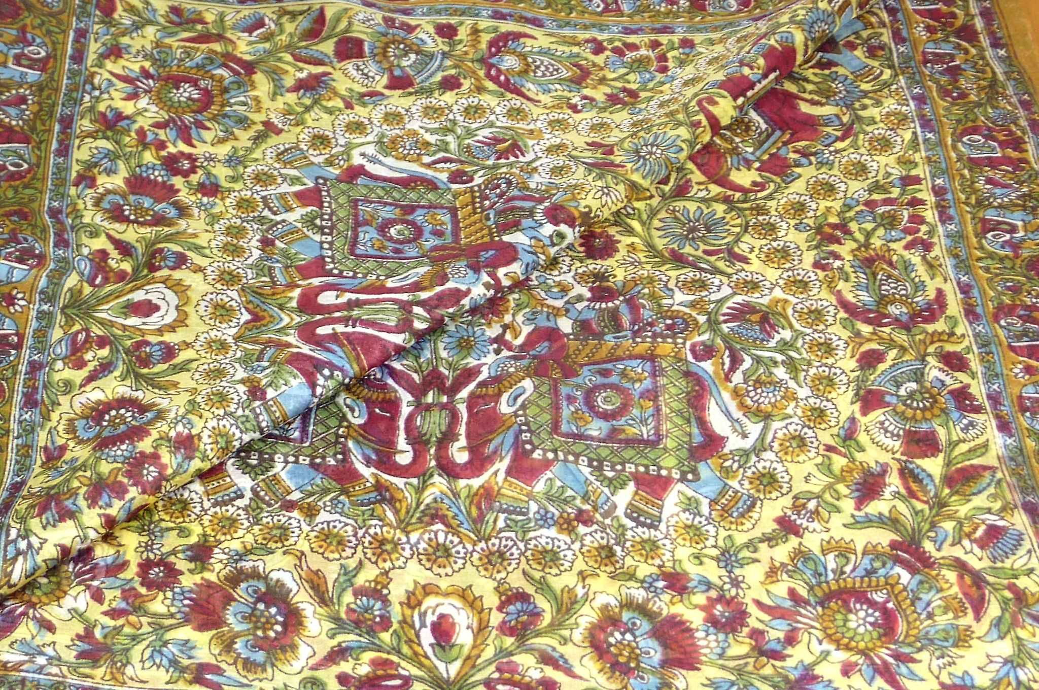 Mulberry Silk Traditional Square Scarf Mani Gold by Pashmina & Silk