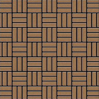 Metallmosaik Titan ALLOY Basketweave-Ti-AB