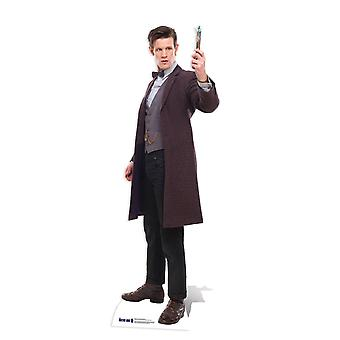 The 11th Doctor Holding Sonic Screwdriver Lifesize Cardboard Cutout / Standee (Doctor Who)
