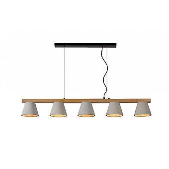 Lucide Possio skandinavischen Rechteck Holz Taupe und Licht Holz Pendelleuchte