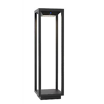 Lucide Tenso Solar Modern Rectangle Aluminum Anthracite Bollard Light