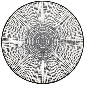 Runde gulvet måtten Cascara grå vask + tør vaskbar snavs mat