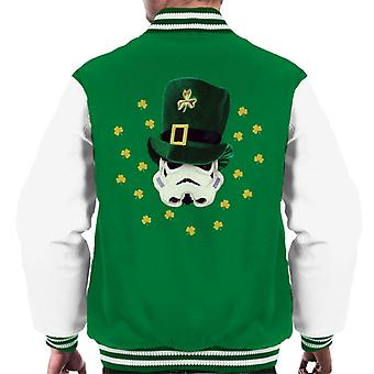 Original Stormtrooper St Patricks Day Irish Top Hat Men's Varsity Jacket
