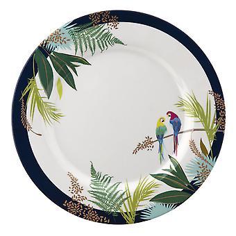Sara Miller papagal set de 4 melamine cina farfurii