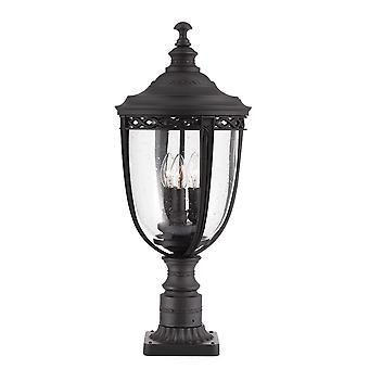 Englisch Trense drei helle große Sockel schwarz - Elstead Beleuchtung