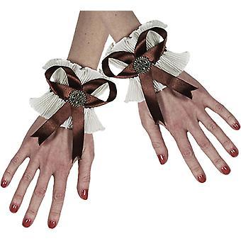 Steampunk schoudertasje handschoenen