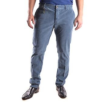Incotex Ezbc093019 Men's Blue Cotton Pants
