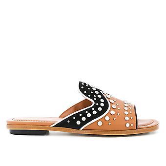 Tod's Xxw0tk0x690ireoxqd Women's Brown Leather Sandals