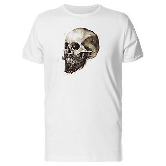 Human Skull With A Black Beard Tee Men's -Image by Shutterstock