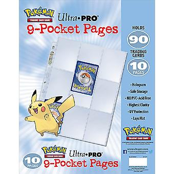 Ultra Pro Pokemon 9 Fickors Samlarficka Transparent 10-Pack