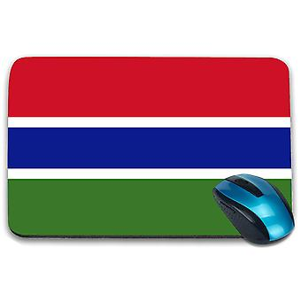 i-Tronixs - Gambia Flag Printed Design Non-Slip Rectangular Mouse Mat for Office / Home / Gaming - 0063